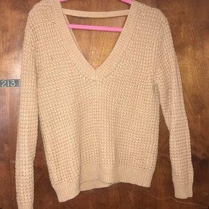 Forever 21 Tan v-neck sweater
